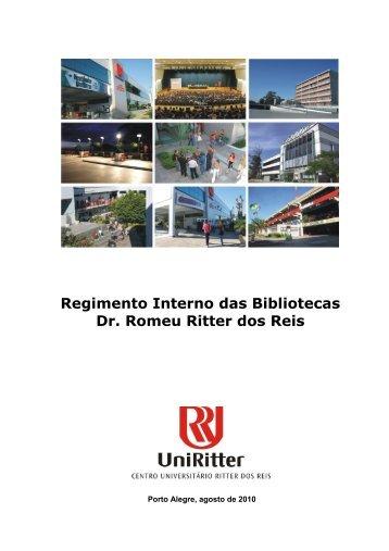 Regimento Interno das Bibliotecas Dr. Romeu Ritter dos ... - UniRitter