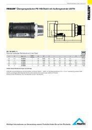 FRIALEN® Übergangsstücke PE-HD/Stahl mit Außengewinde USTN