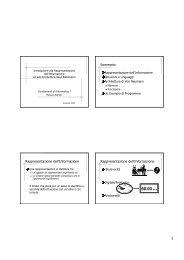 Introduzione alla Organizzazione dei Sistemi di Elaborazione