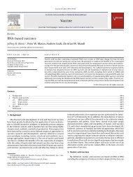 RNA-based vaccines - Università degli Studi di Roma Tor Vergata