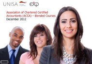 Association of Chartered Certified Accountants (ACCA) – Blended ...