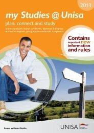my Studies @ Unisa 2013 brochure - University of South Africa
