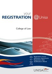 Your Registration @ Unisa 2010 - University of South Africa