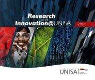 Research Innovation@UNISA - University of South Africa