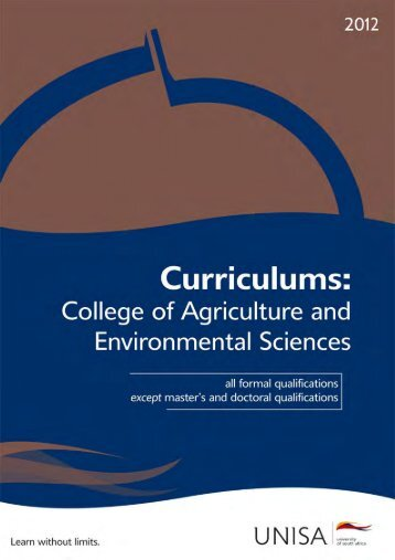 Curriculums: College of Agriculture and Environmental Sciences