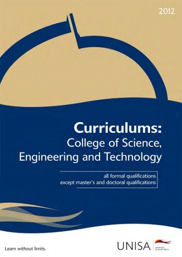 Curriculums: College of Science, Engineering and Technology