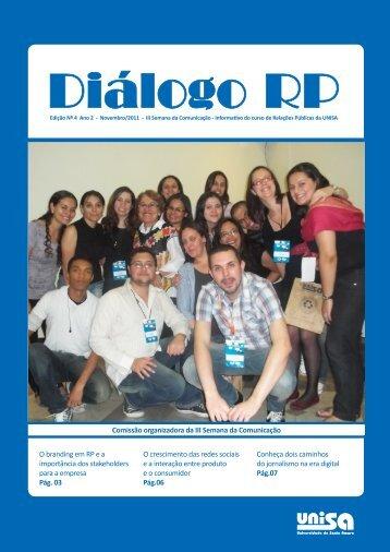 Novembro/2011 – Diálogo RP Nº 04 Ano II - Unisa