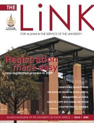 The Link - issue 1 2008 (PDF) - University of South Africa