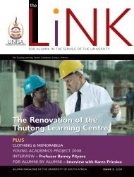The Link - issue 2 2008 (PDF) - University of South Africa