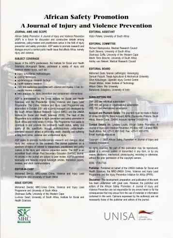 a-safety-2005vol1 1..117 - University of South Africa