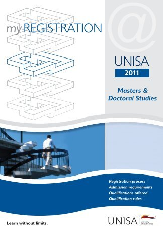 MyRegistration2011 Masters Doctoral - University of South Africa