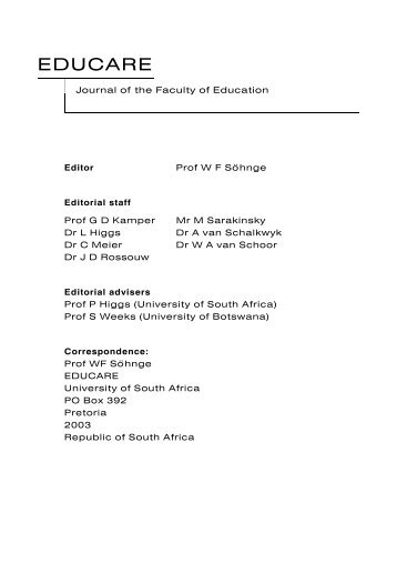 EDUCARE - University of South Africa