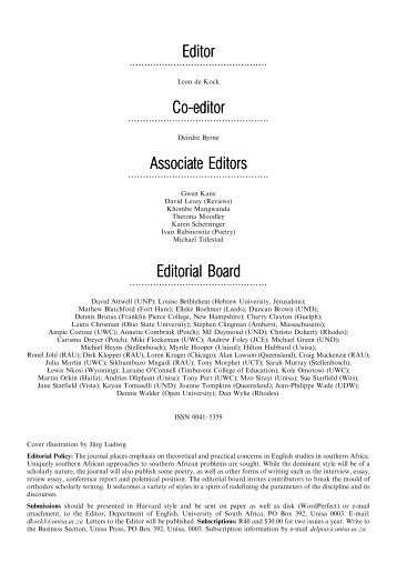 Editor Co-editor Associate Editors Editorial Board - University of ...