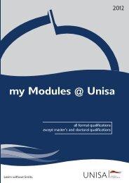 my Modules @ Unisa - University of South Africa
