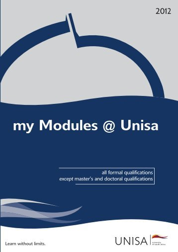 my Modules @ Unisa - University of South Africa