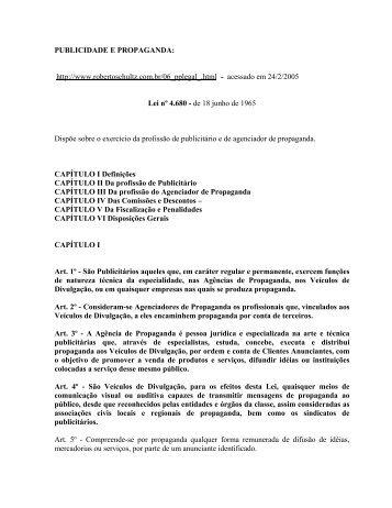 PUBLICIDADE E PROPAGANDA: http://www.robertoschultz ... - Unisc