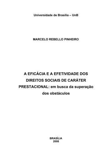 A EFICÁCIA E A EFETIVIDADE DOS DIREITOS SOCIAIS DE ... - Unisc
