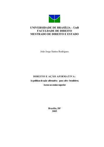 UNIVERSIDADE DE BRASÍLIA – UnB FACULDADE DE ... - Unisc