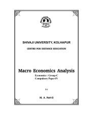 Macro Economics - Shivaji University