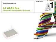Windows 7 mit A1 WLAN Box TG 585 - A1.net