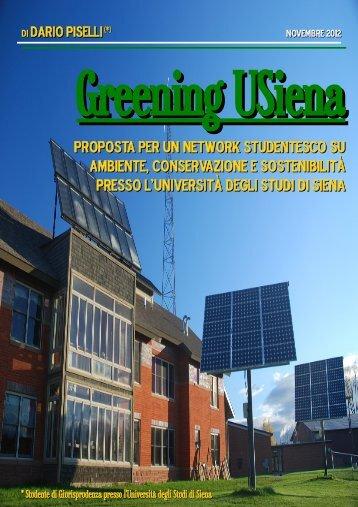 Greening USiena - Università degli Studi di Siena