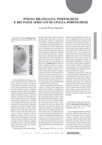 Poesia brasiliana, portoghese e dei paesi africani di lingua ...