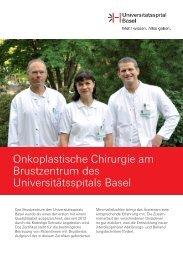 Onkoplastische Chirurgie am Brustzentrum des Universitätsspitals ...