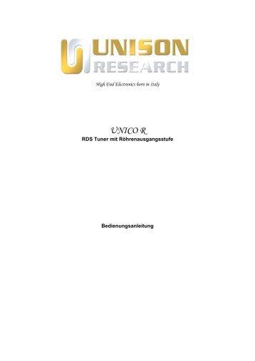 UNICO R - Unison Research