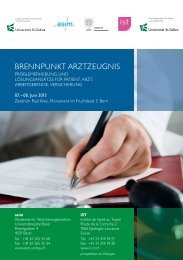 BRENNPUNKT ARZTZEUGNIS - Universitätsspital Basel