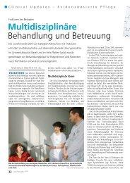Multidisziplinäre Behandlung und Betreuung - Universitätsspital Basel