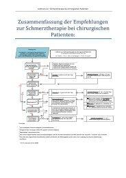 Leitlinie Schmerztherapie Chirurgie Kurzfassung
