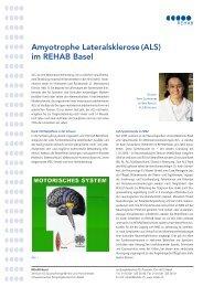 Amyotrophe Lateralsklerose (ALS) im REHAB Basel