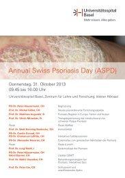 Schweizer Psoriasistag 31.10.2013 - Universitätsspital Basel