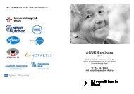 AGUK Seminare 2011 Flyer final version - Universitätsspital Basel