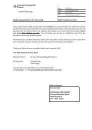 Gesundheitsfragebogen E - Universitätsspital Basel