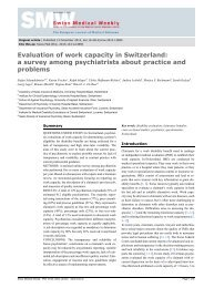Evaluation of work capacity in Switzerland: a survey among ...