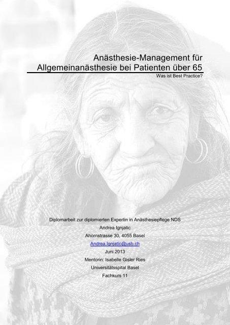 Anästhesie bei Pat über 65 - Universitätsspital Basel