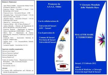 Maggiori Informazioni - Università degli Studi di Sassari