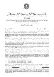 Decreto n. 697/Ric del 16 ottobre 2012 - Futuro in Ricerca - Miur