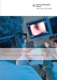 Daten und Fakten 2011 - Universitätsspital Basel