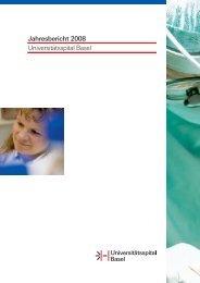 Jahresbericht 2008 Universitätsspital Basel