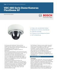 VDC‑485 Serie Dome-Kameras - Bosch Security Systems