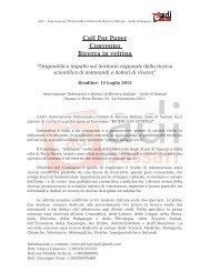 Call For Paper Convegno Ricerca in vetrina - Università degli Studi ...