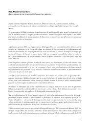Intervento Massimo Scandura - Università degli Studi di Sassari