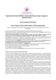 Dettagli Piano di studi - Università degli Studi di Sassari
