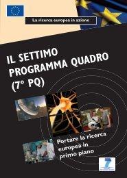Il settimo Programma quadro (7º pq) - Europa