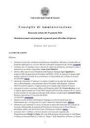 Consiglio di Amministrazione del 19 gennaio 2010 - Università degli ...