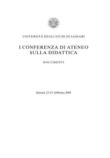 Volume dei Pre-Atti - Università degli Studi di Sassari