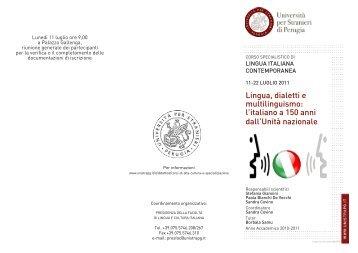 Programma - Università per Stranieri di Perugia