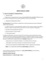 BREVE GUIDA AL CORSO - Università per Stranieri di Perugia